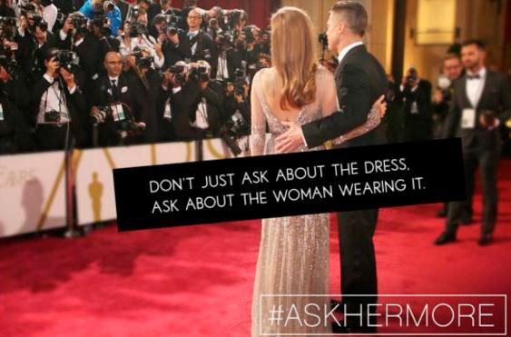 Não pergunte apenas sobre o vestido, pergunte sobre a mulher que o está usando - Reprodução