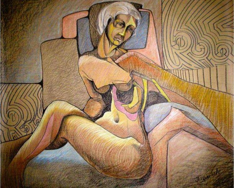 Mural sobre anorexia na Universidad del Valle de México - Autor: Fernwer