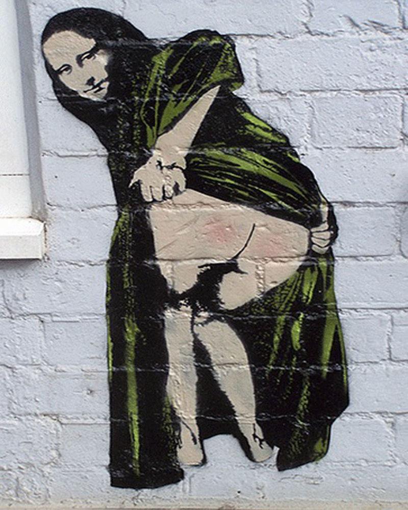 Dar  o cu, sexo anal - Pintura de Banksy