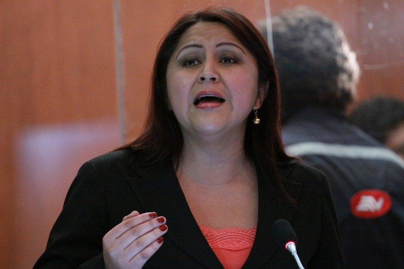 Ximena Peña é presidente da comissão parlamentar de justiça no Equador